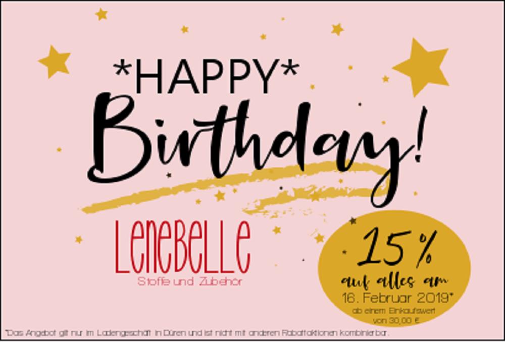 Lenebelle Stoffe und Zubehör feiert dreijähriges Jubiläum!