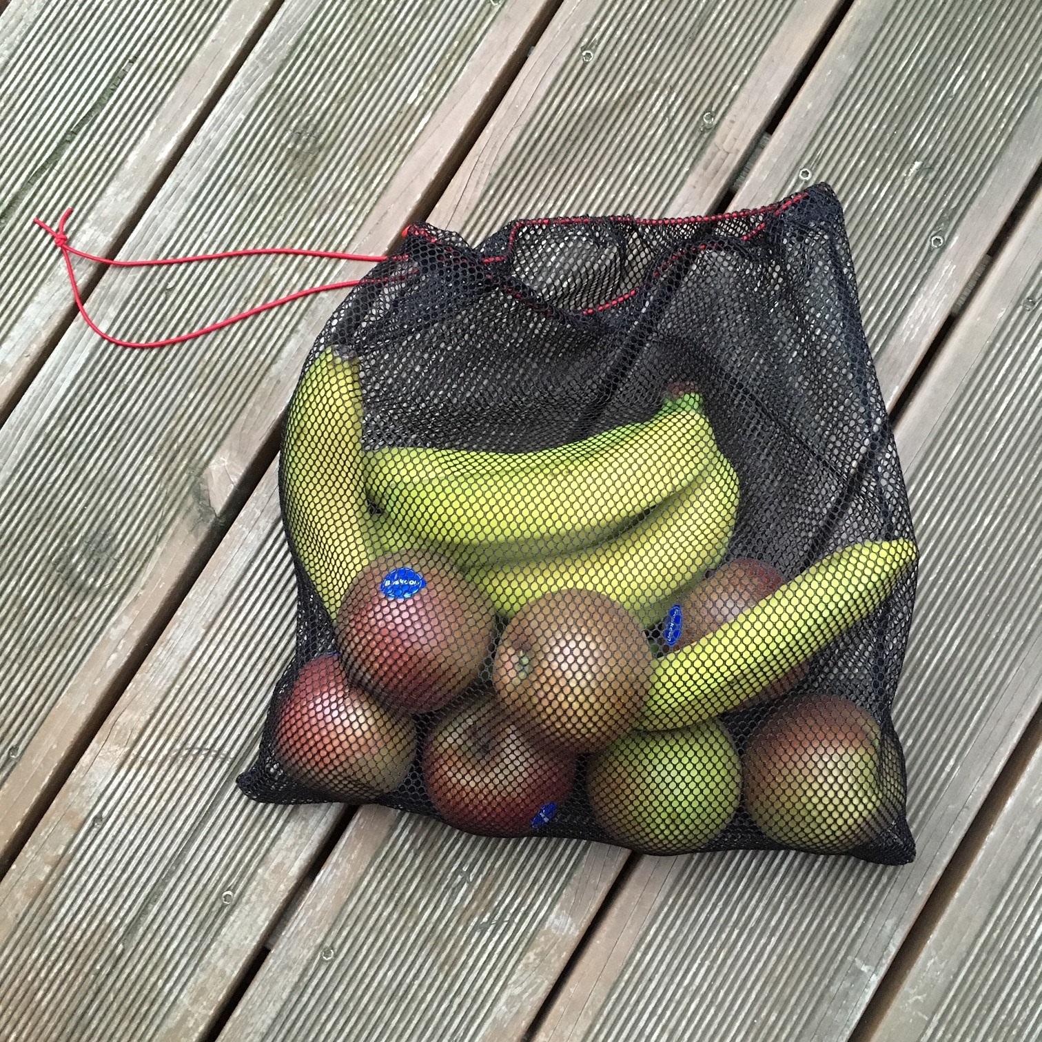 Genähte Obstbeutel aus Netzstoff
